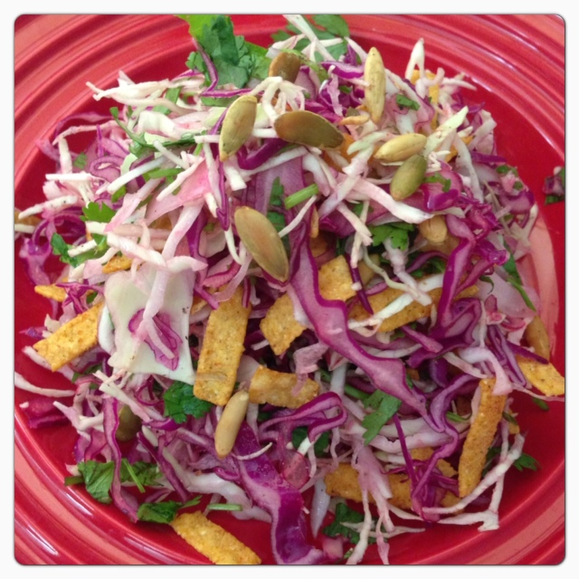Tortilla Slaw © The Queen V Kitchen 2013