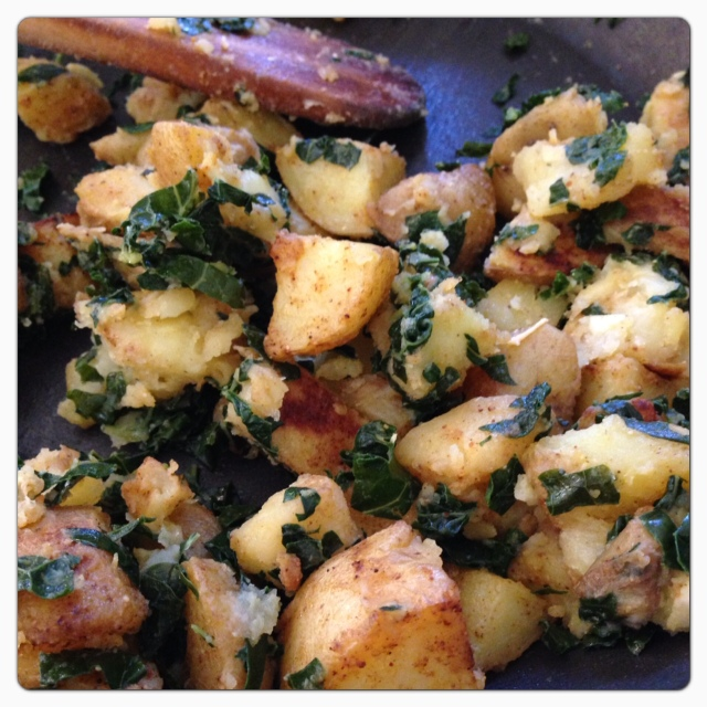 Roasted Potatoes and Kale © The Queen V Kitchen 2013